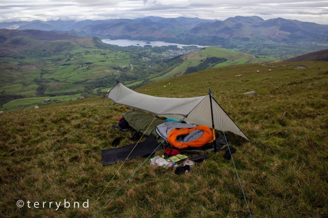 wild camping blencathra rab siltarp 1 alpine bivi