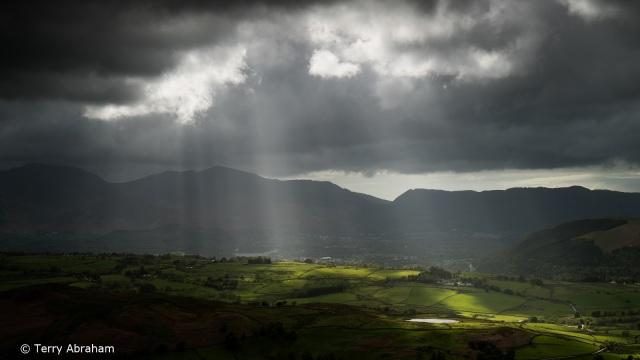 storm light over Tewet Tarn Lake District